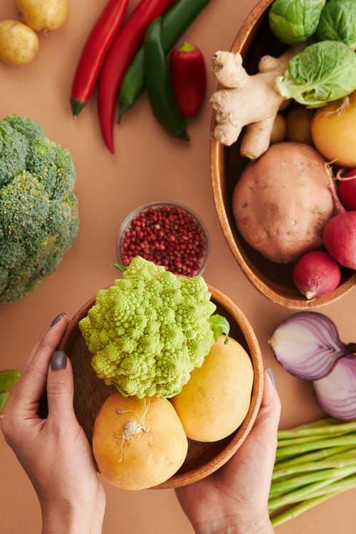 ruce zelenina